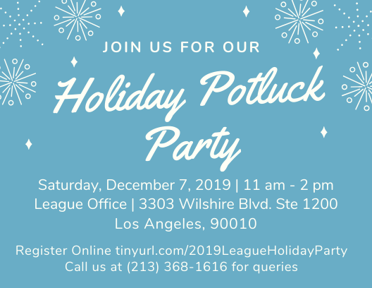 Holiday Party Flyer for December 7, 2019