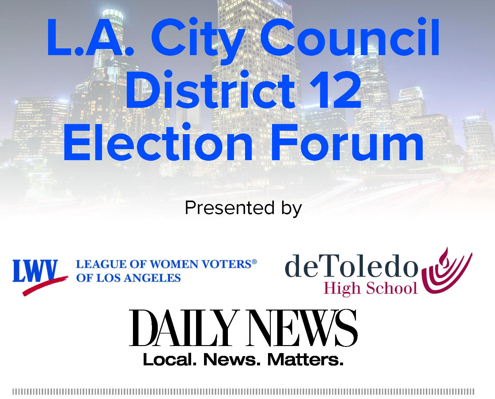 Candidate Forum City Council District 12