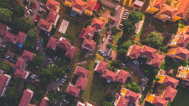 High Density Housing View from Above