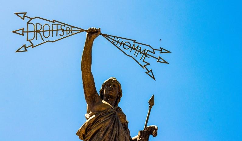French statue droits de l'homme