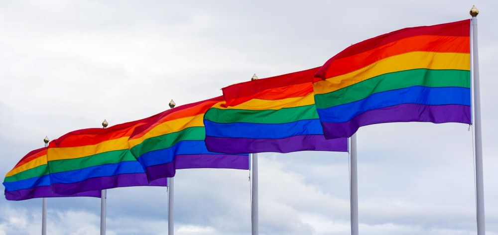Photo of Six Rainbow Flags