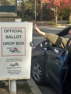Drop Box with hand