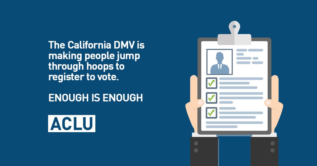 Voting Rights Groups Sue California DMV for Voter Suppression   MyLO