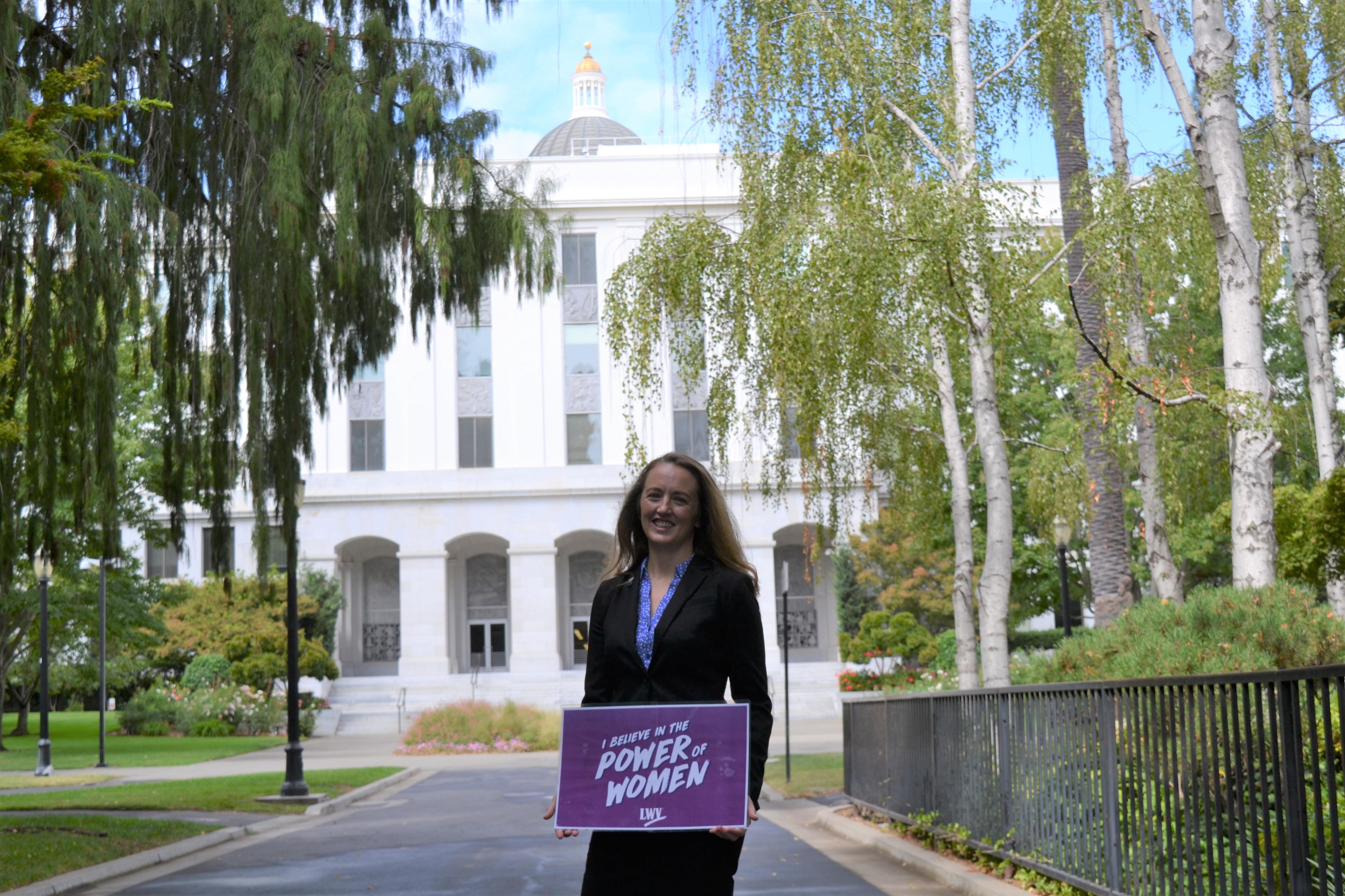 Karen Jones, LWVC, Advocacy, fellowship, Trudy Schafer, grassroots, California