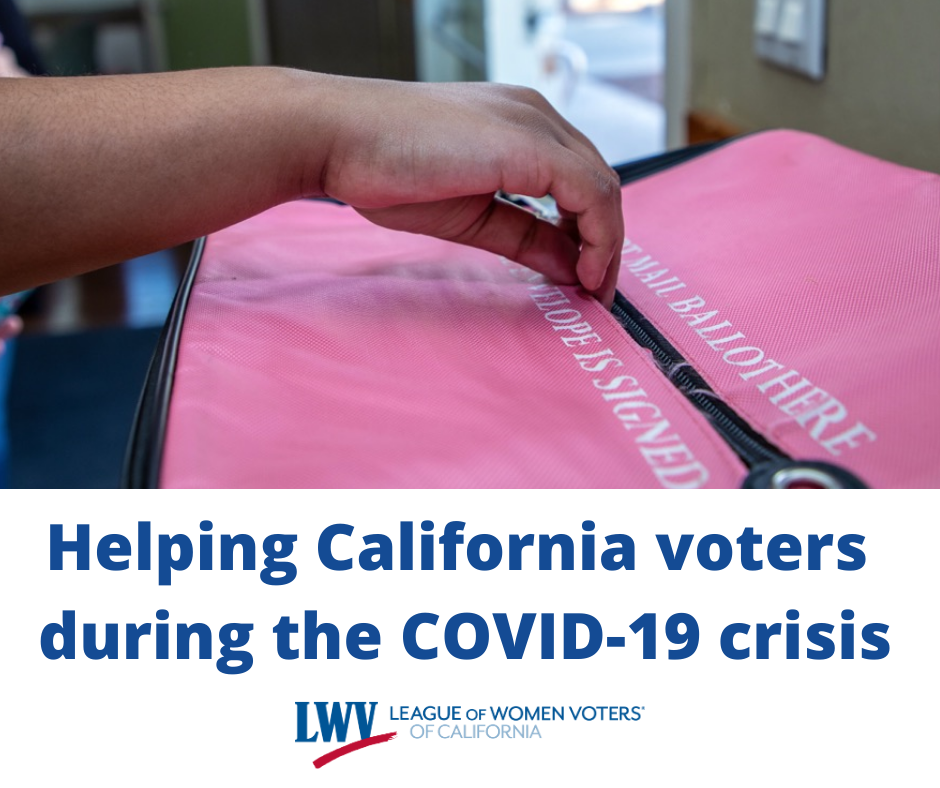 voting, voting rights, California, elections, covid19, cornavirus, League of Women Voters