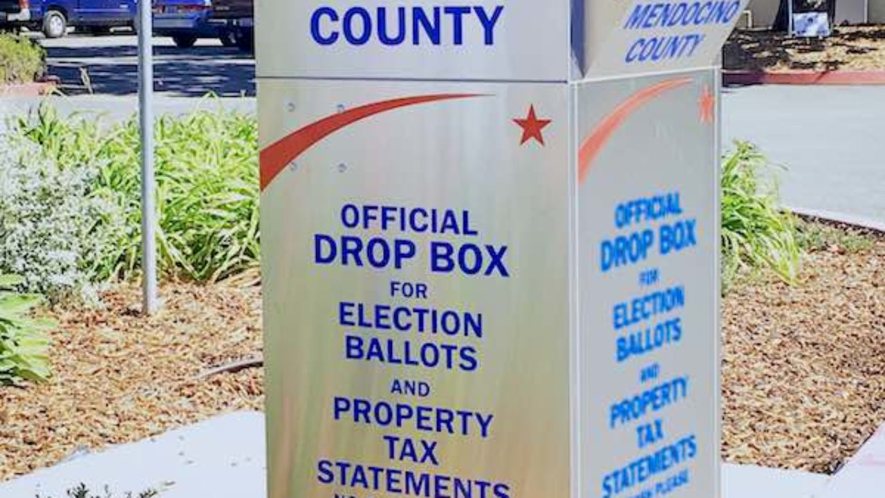 Drive-by ballot drop-off box