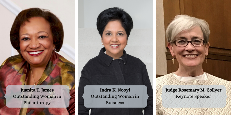 Gala Honorees James, Nooyi, and Collyer