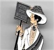 Suffragist Pin --Small