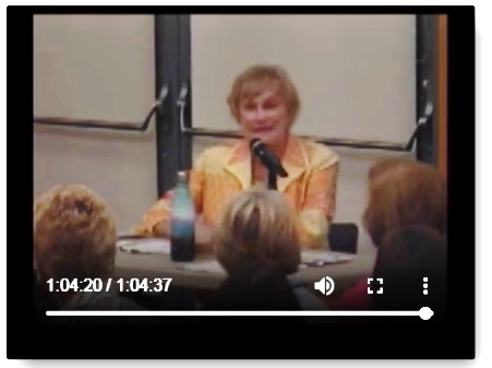 Gail Murray moderating 2018 Clayton candidate forum, from video