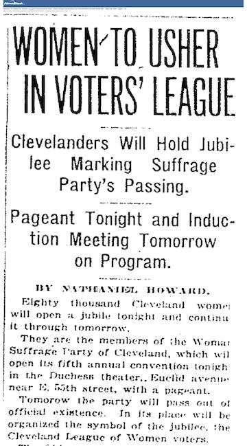 LWV Cleveland PD 5-28-1920