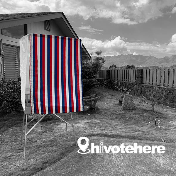 Hawaii Votes by Mail image backyard