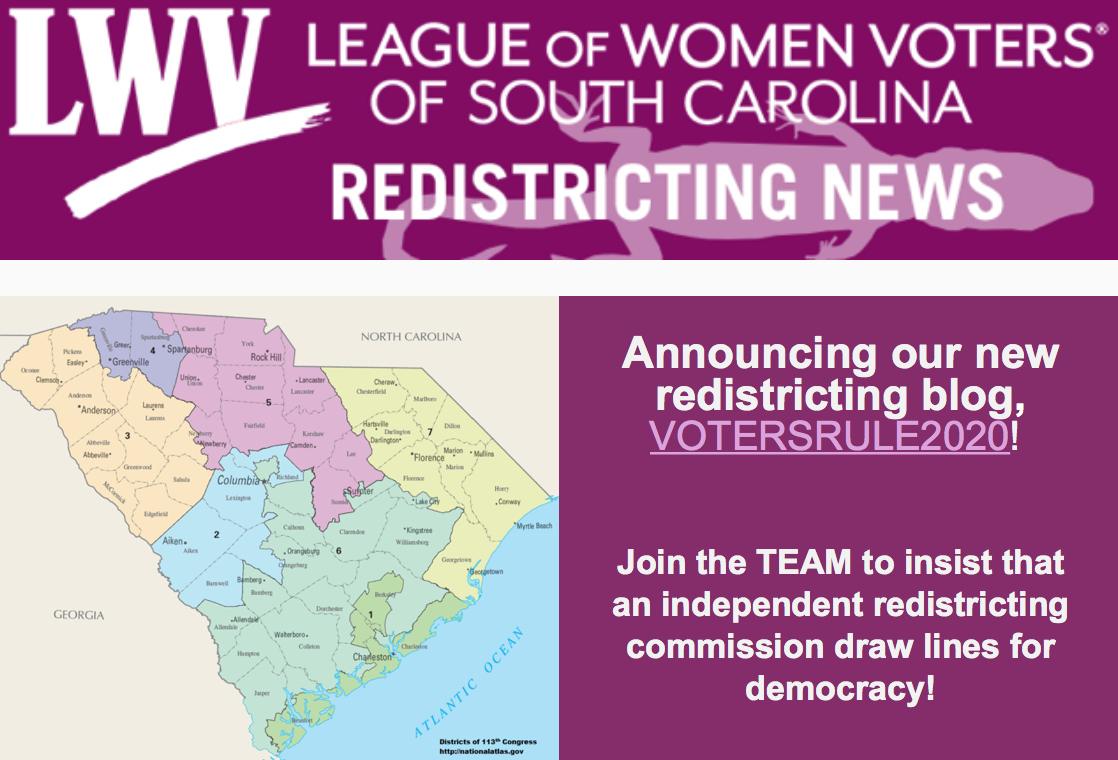 LWVSC Redistricting Blog: VOTERSRULE2020