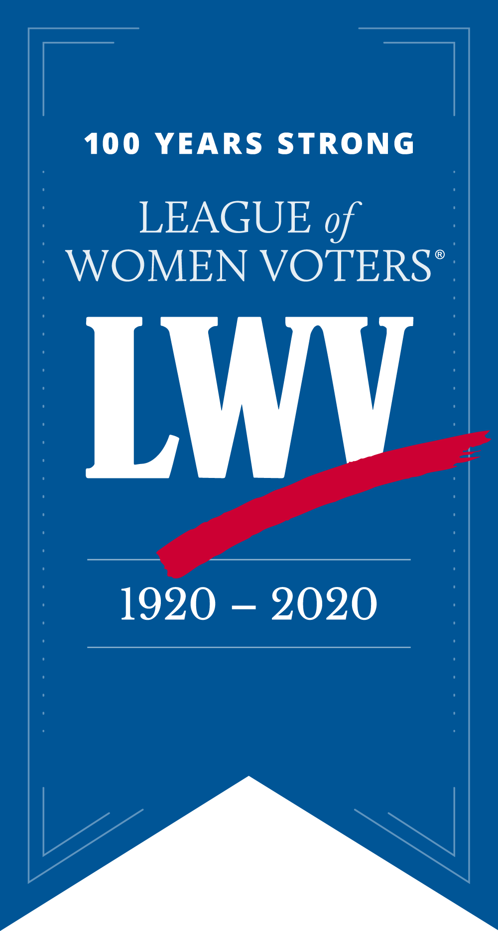 LWV 100 Year Banner