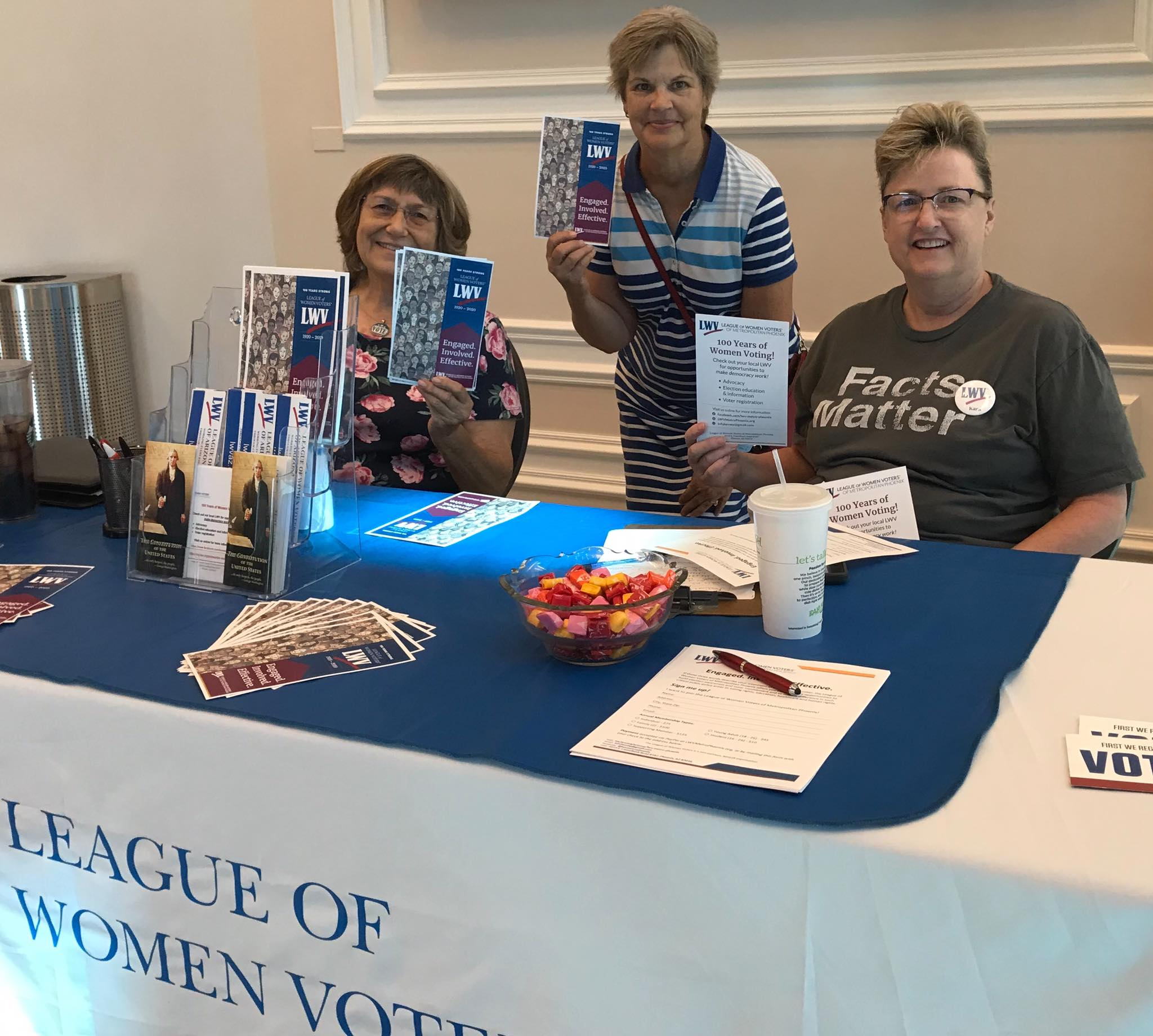 LWV Metro Phoenix members at tabling
