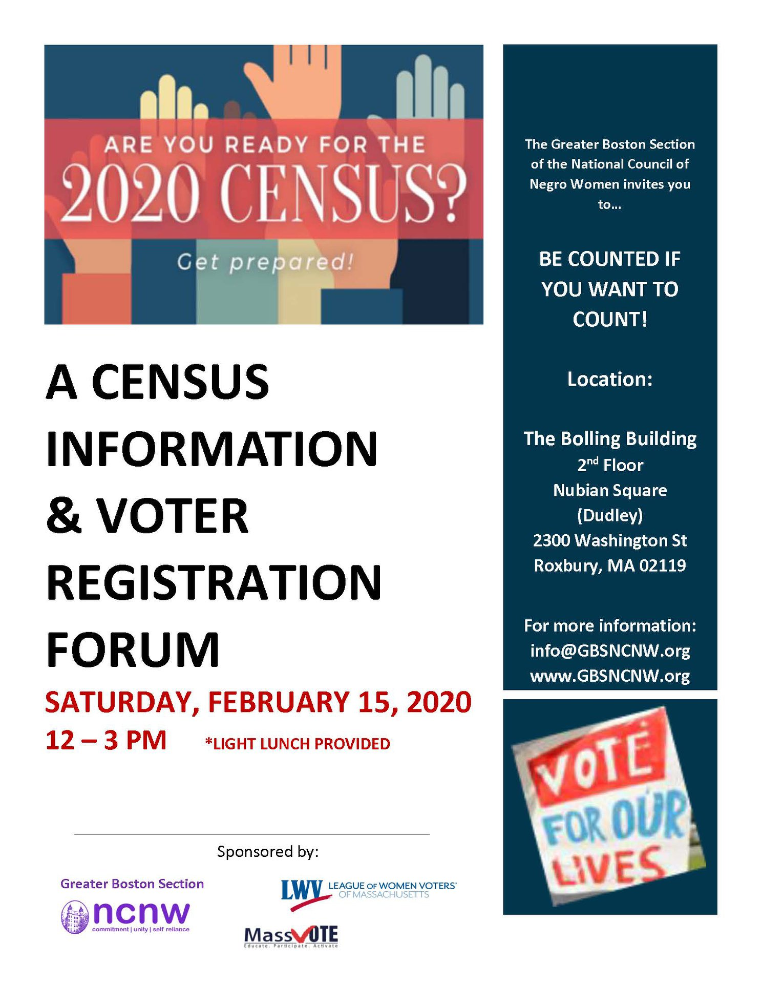 Census 2020 Forum