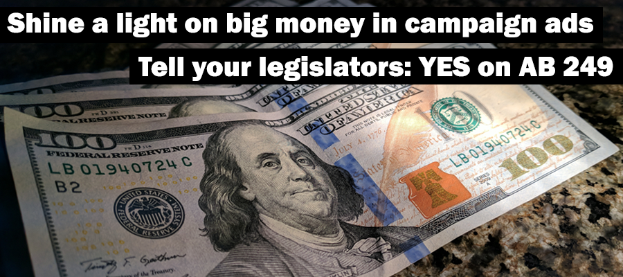 Yes on AB 249, the California Disclose Act