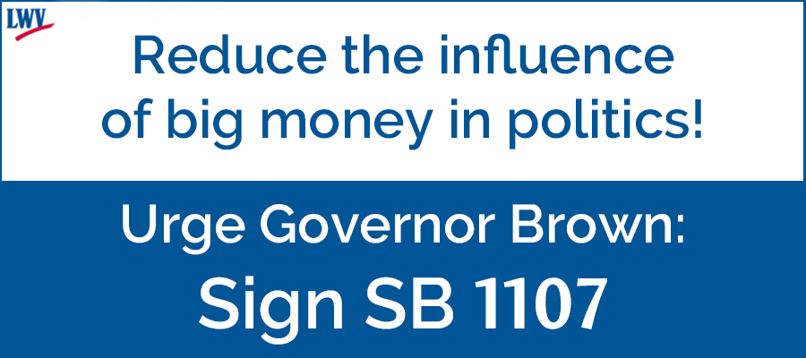 SB1107, big money, Governor Borwn, politics, California