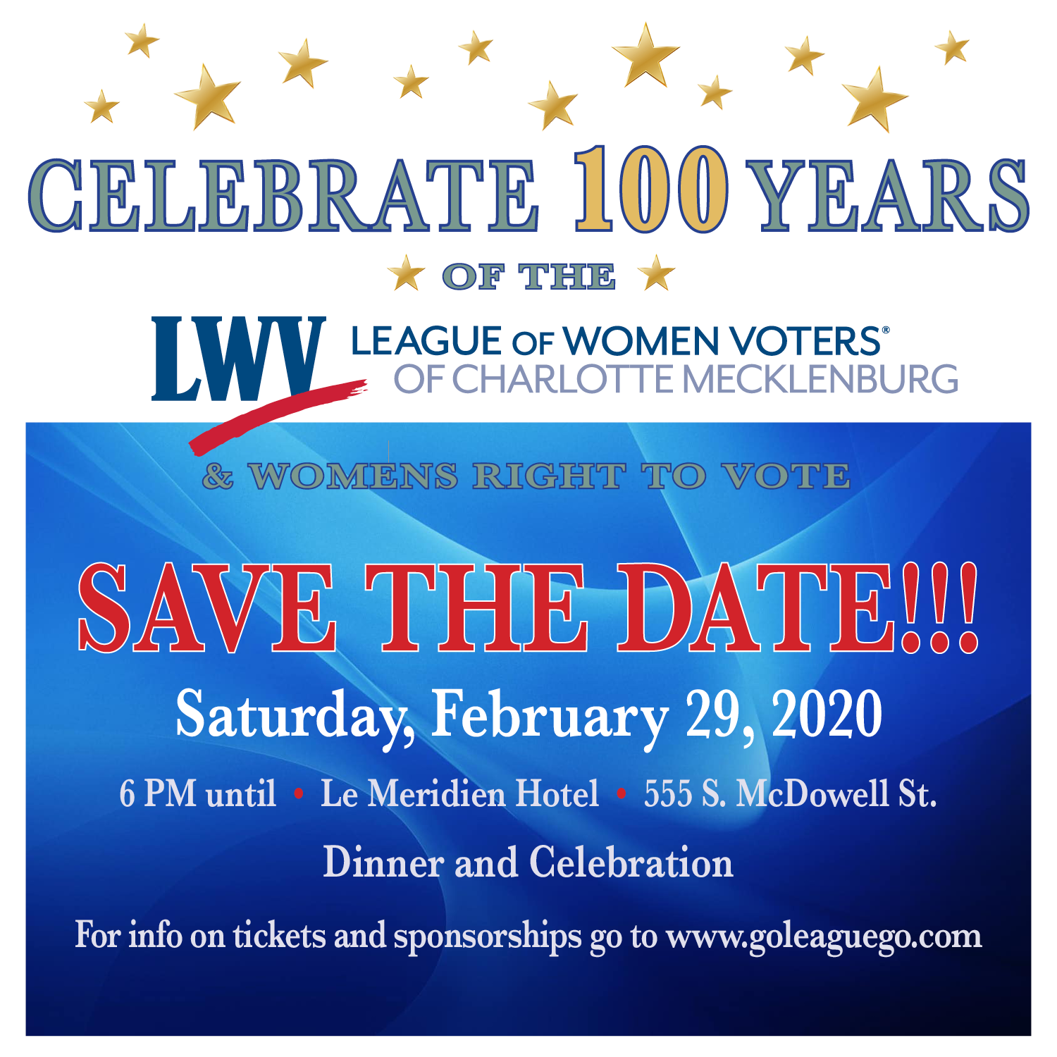 Save The Date for 100th Year Celebration
