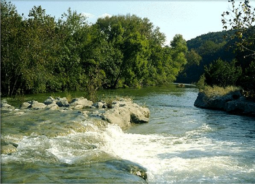 Beauty of Hill Country with trees and river