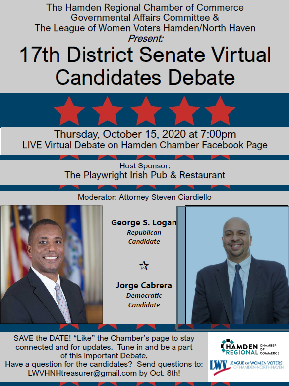 17the Senate District Candidate Virtual Event October 15 2020 flyer