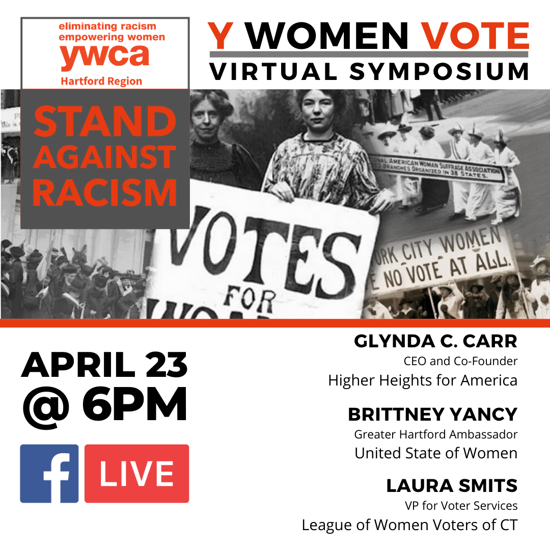 ywca April 23 Stand Against Racism Virtual Event Flyer