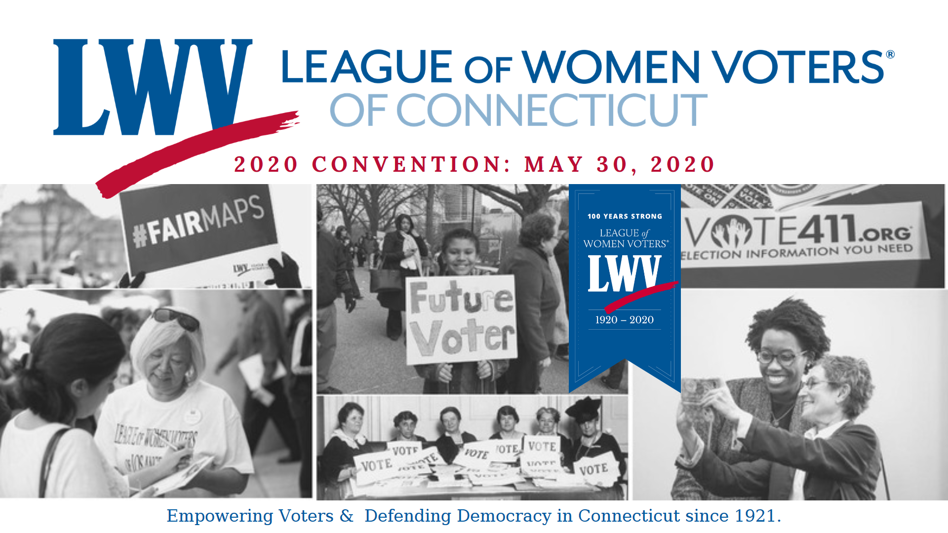 LWVCT 2020 Convention Banner Image
