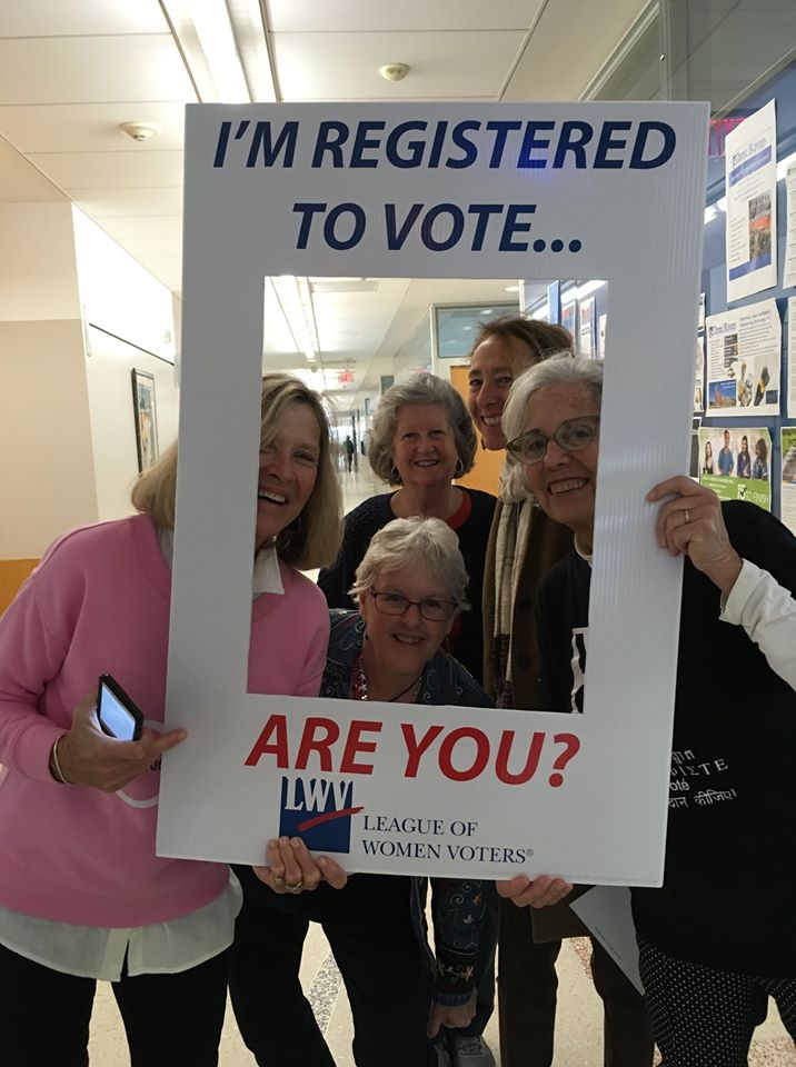 Voter Registration Drive Group Photo LVW Southeastern CT