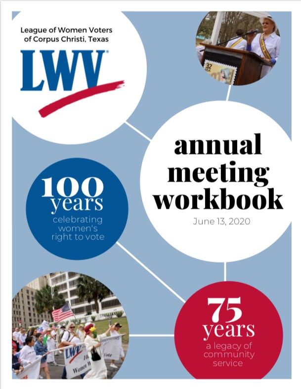 Cover to annual meeting workbook 2020
