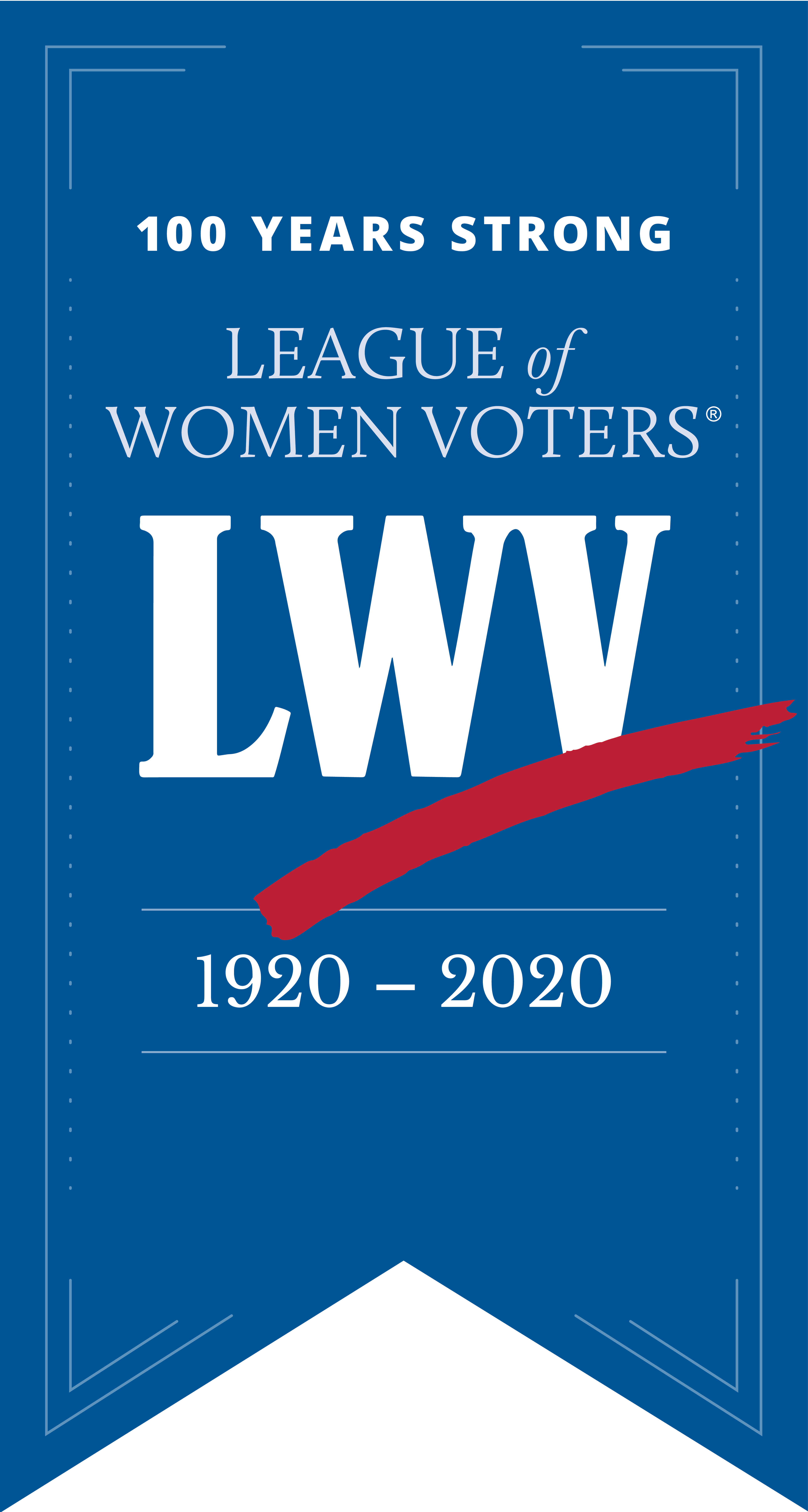 Logo of the League of Women Voters for 100th Anniversary