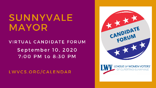 Candidate Forum Sunnyvale Mayor -700pm-to-830pm