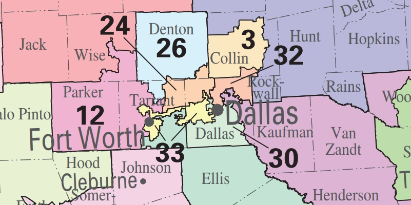 North Texas Congressional Districts 2018