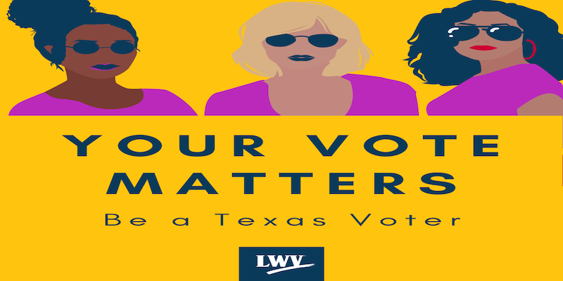 Be a Texas Voter on Texas flag
