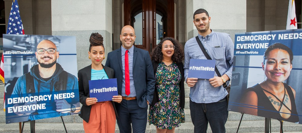 Free the vote movement to restore voting rights