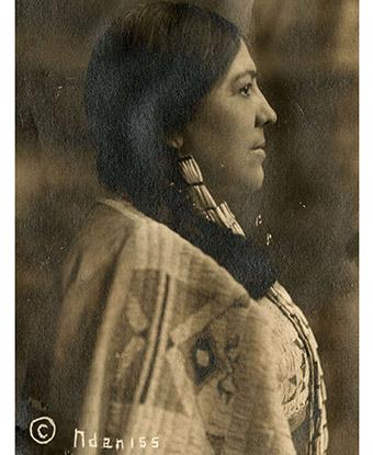 Marie Louise Bottineau Baldwin in Native American dress