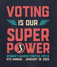 """Event Logo """"Voting is our Superpower"""""""