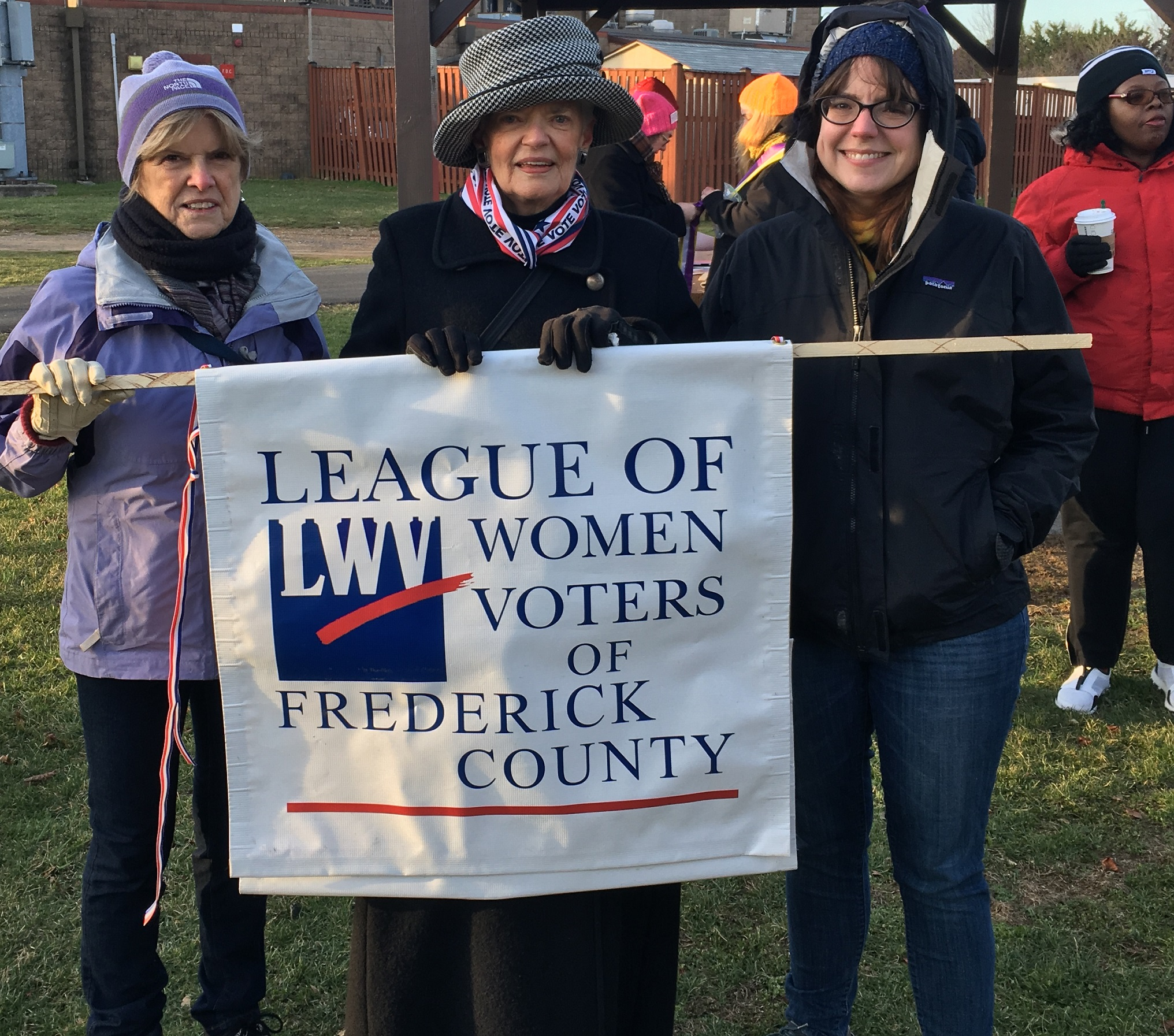 Our members marched with other women's groups in Frederick