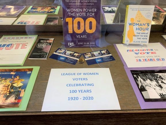 LWVHC 100th Anniversary Hilo Public Library Display