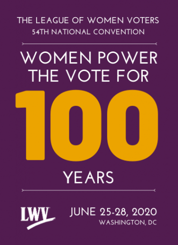 2020 LWV Convention Logo