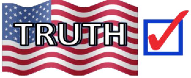american flag-truth superimposed with check in checkbox