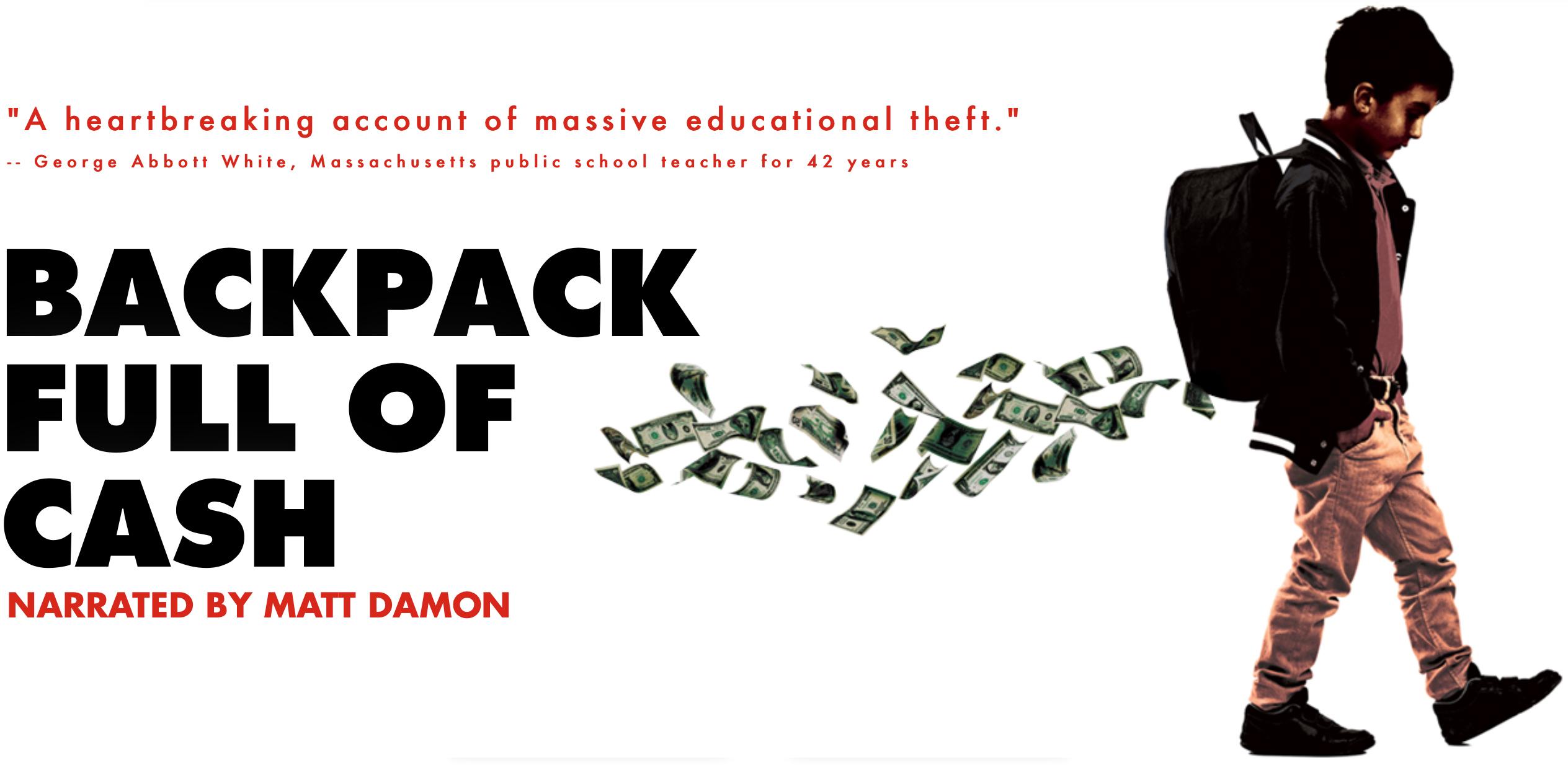 """Ad for documentary """"Backpack Full of Cash"""""""