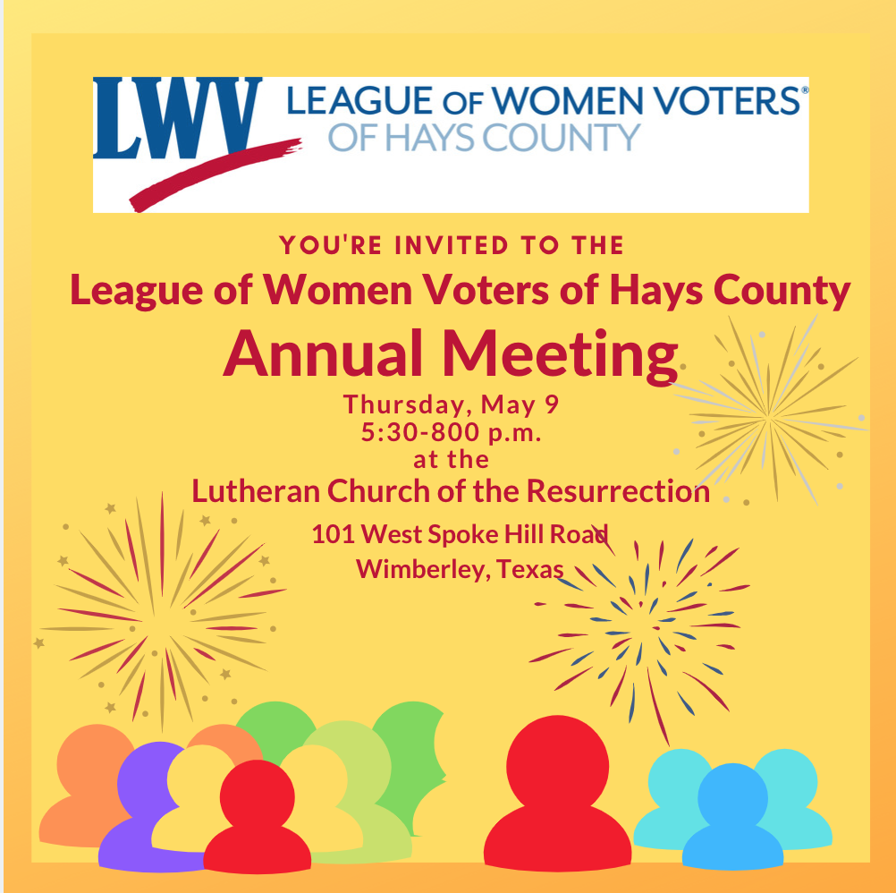 LWV Of Hays County Annual Meeting