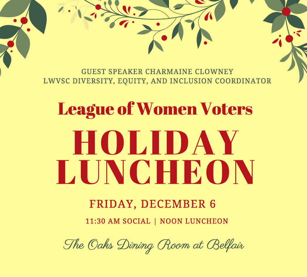 2019 League Holiday Luncheon, Dec. 6, Belfair