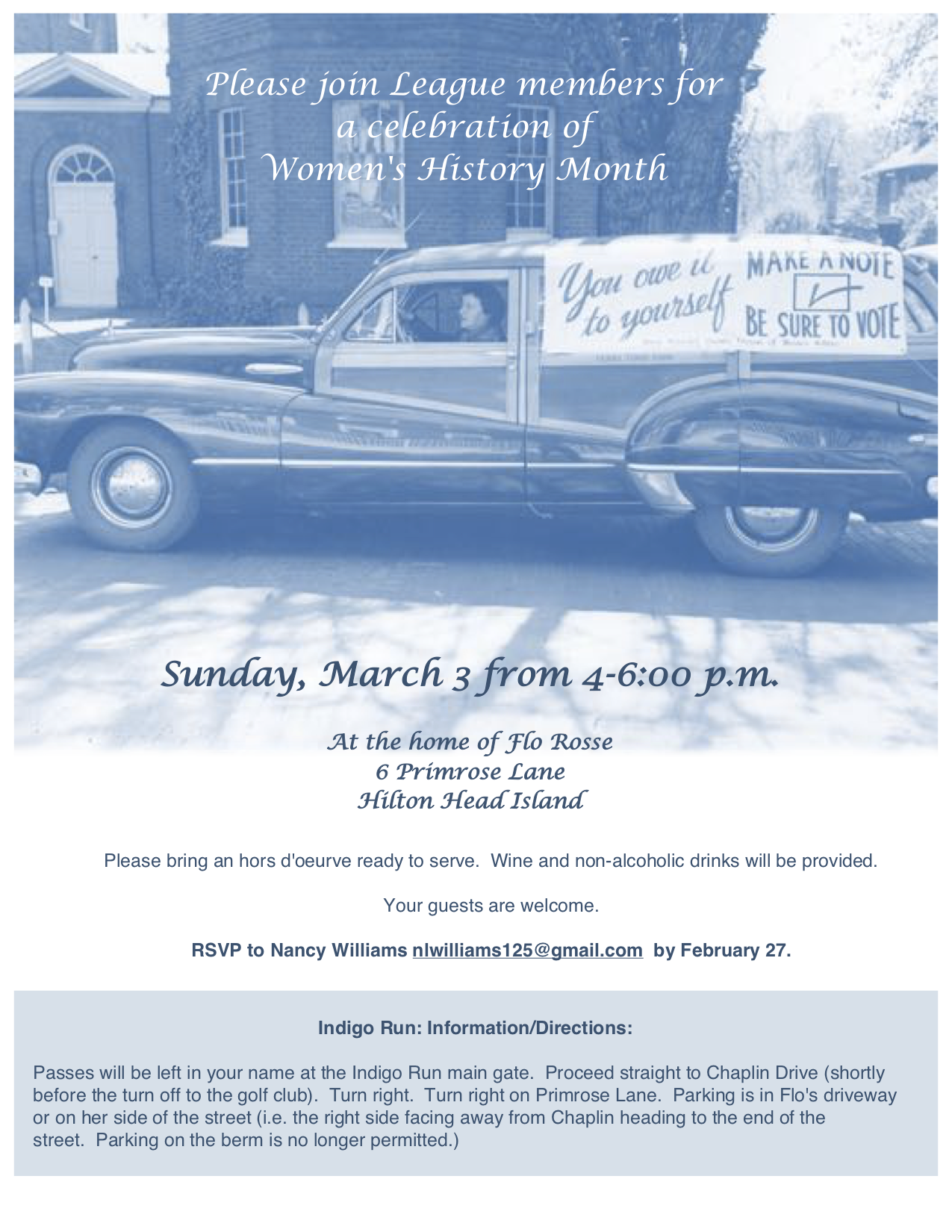 Celebrate Women's History Month with the League on March 3, 4-6 p.m.