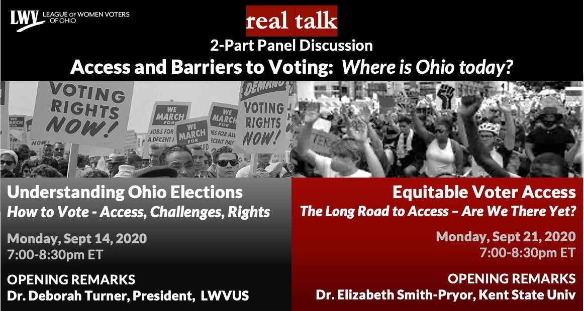 Real Talk Access and Barriers to Voting Where is Ohio today?