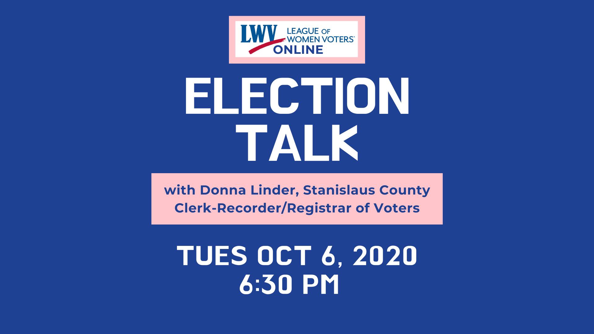 Donna Linder speaks at Election Talk - image