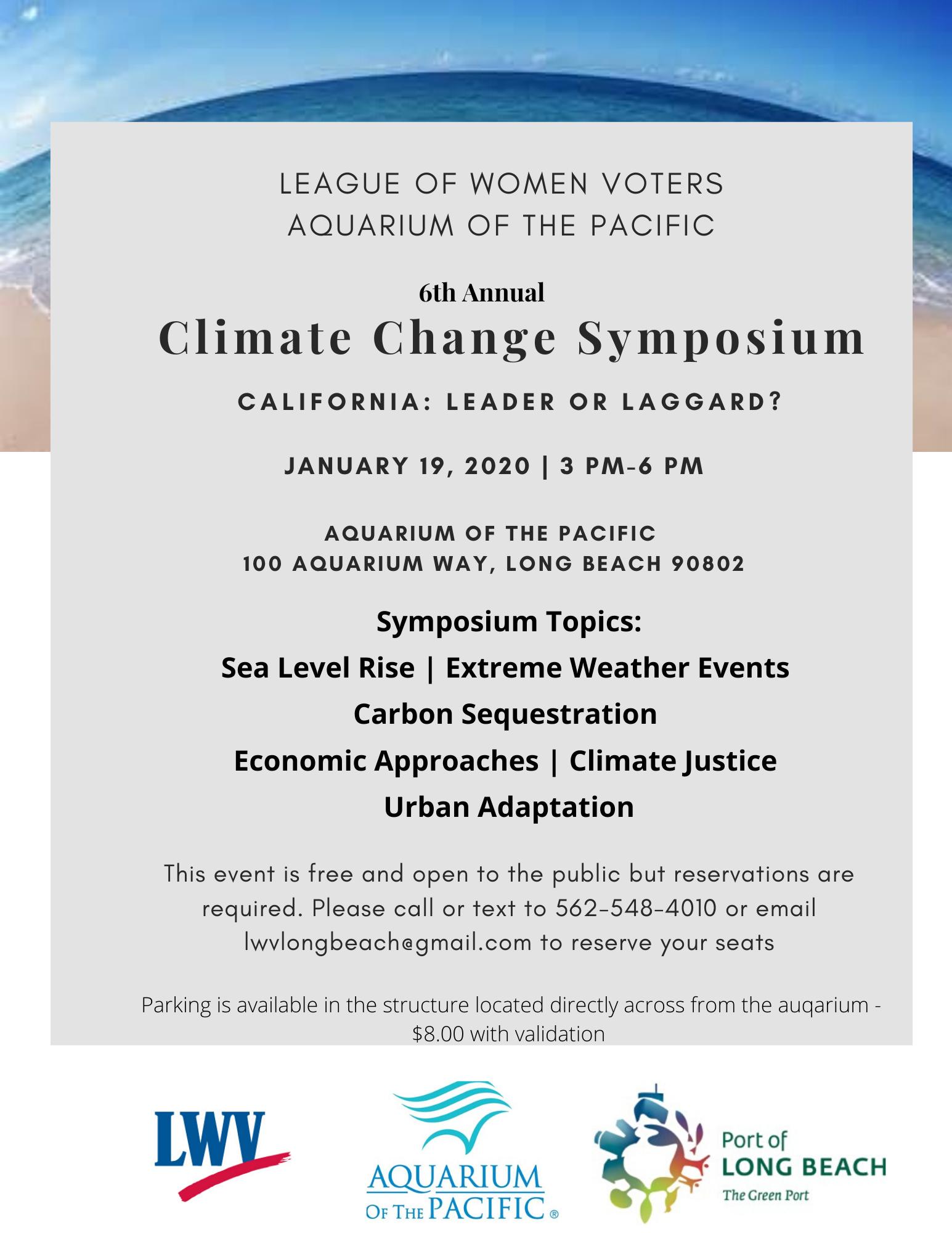 2020 CLimate Change Symposium