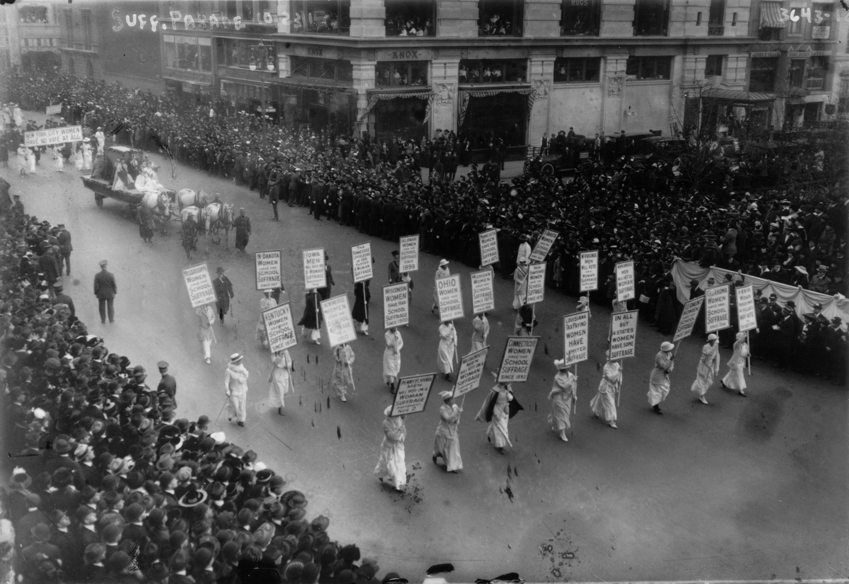 Women's Suffrage 1915 March