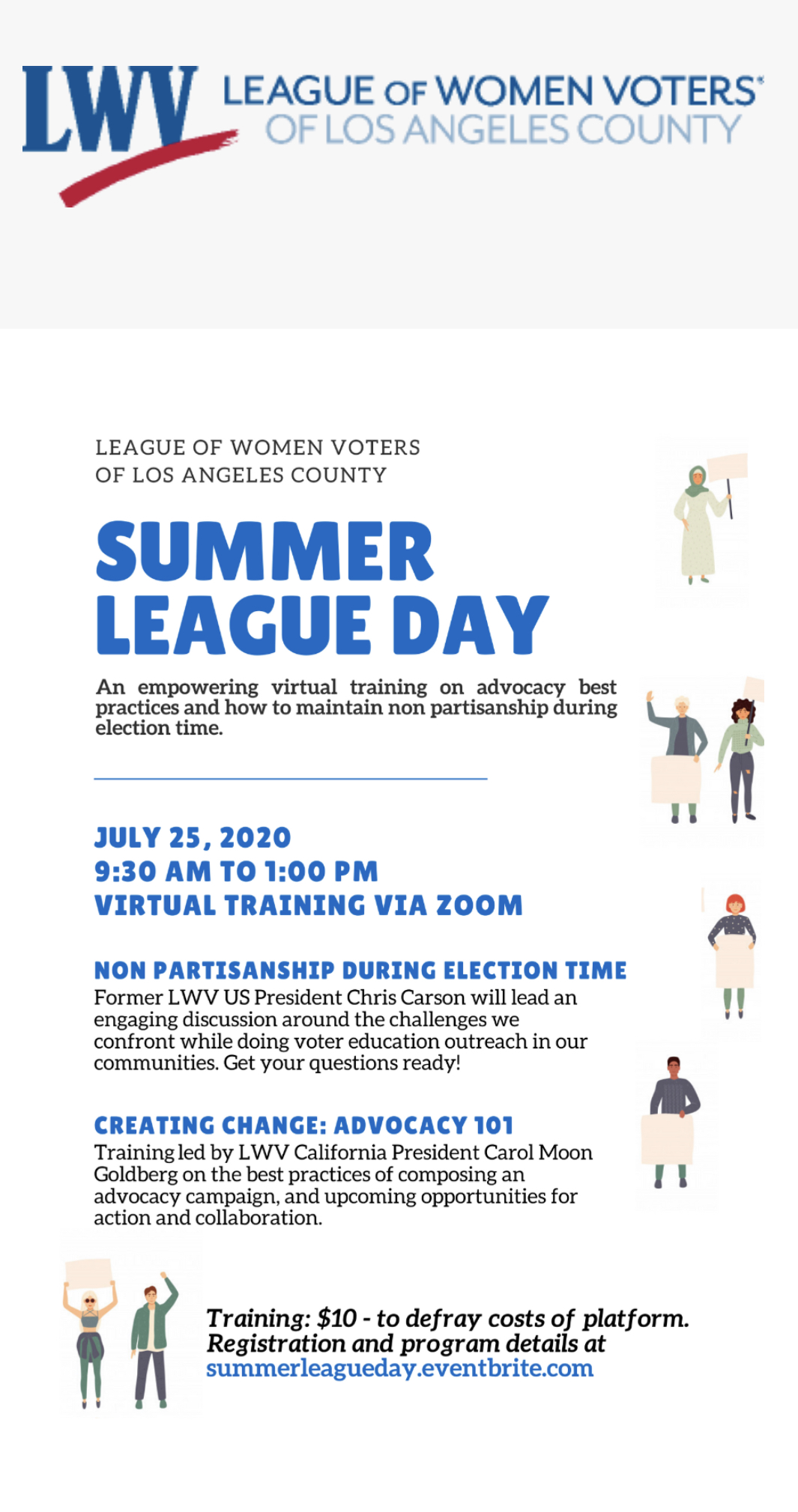 Summer League Day: Advocacy Non Partisan Voter Education Virtual Training
