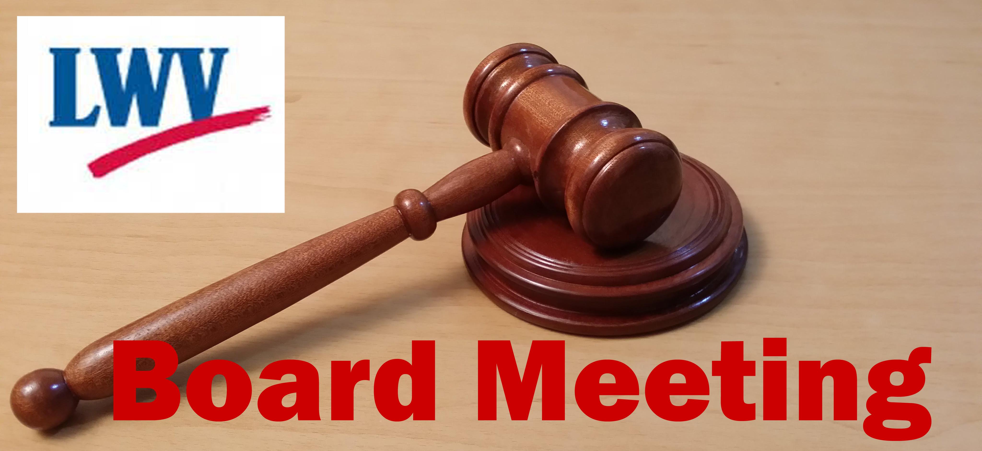 LWVW Board Meeting