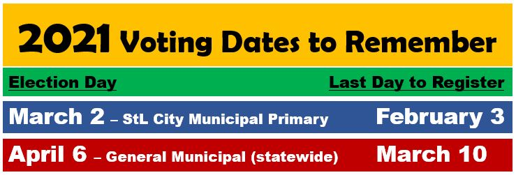 Dates for 2021 elections